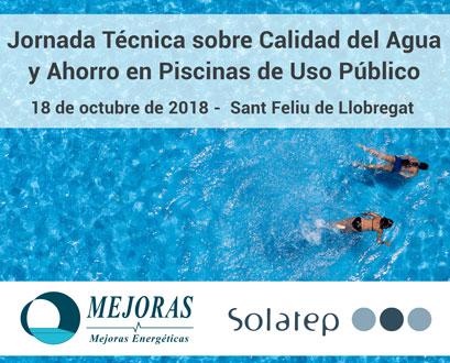 Jornada Técnica sobre Calidad del Agua y Ahorro en Piscinas de Uso Público. Mejoras Energéticas, Solatep